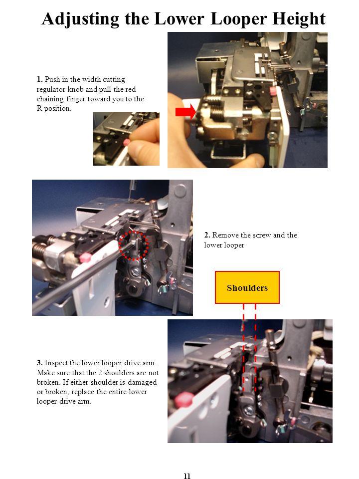 Adjusting the Lower Looper Height