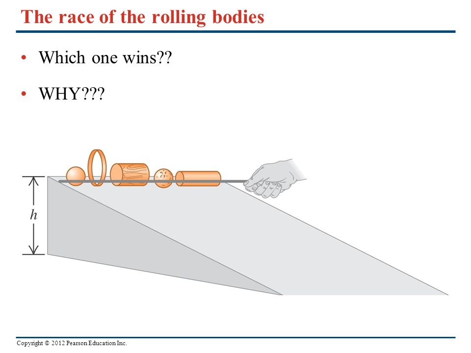The race of the rolling bodies