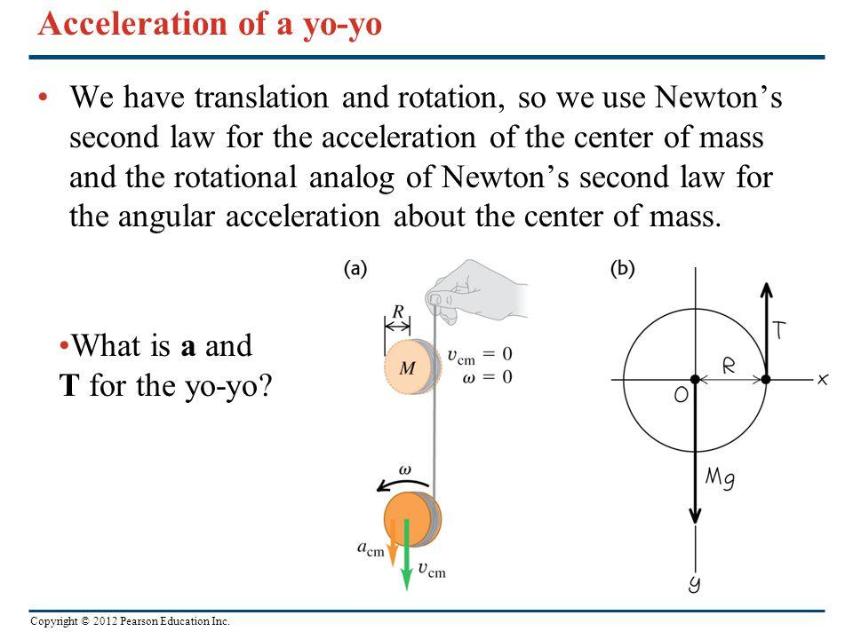 Acceleration of a yo-yo