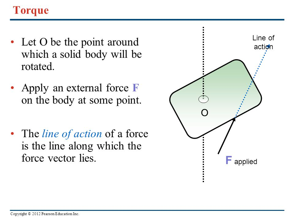 Let O be the point around which a solid body will be rotated.