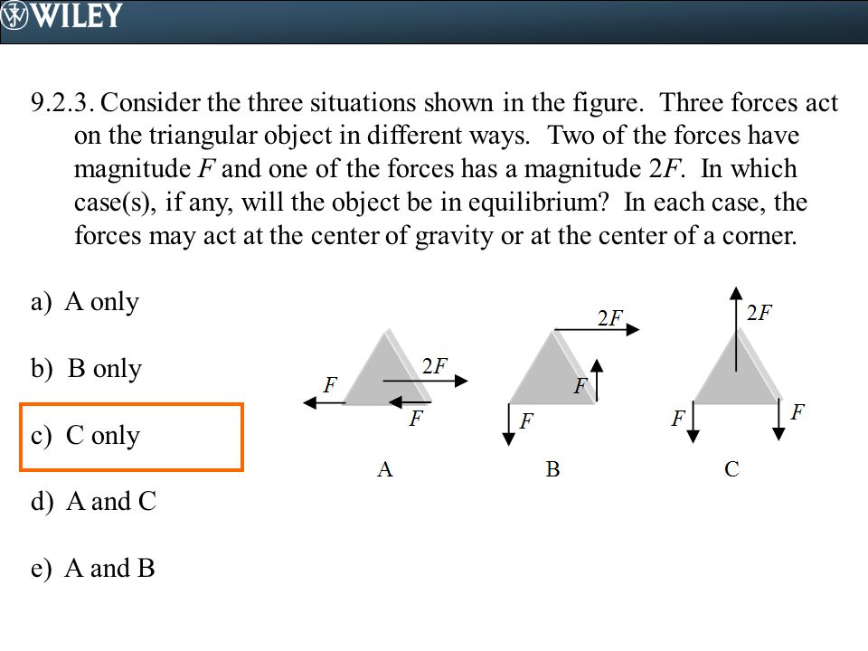 9. 2. 3. Consider the three situations shown in the figure