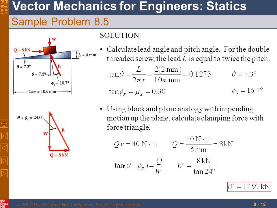 Sample Problem 8.5 SOLUTION