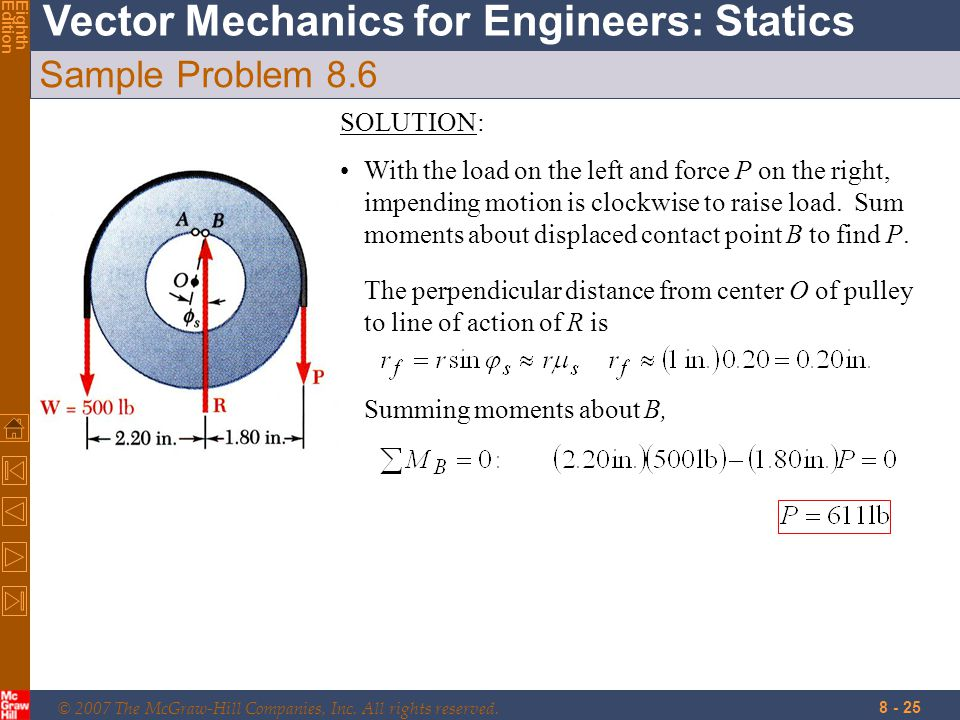Sample Problem 8.6 SOLUTION: