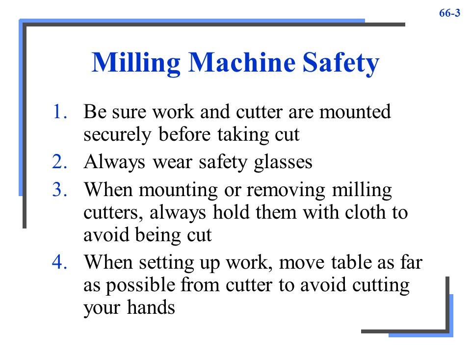 Milling Machine Safety