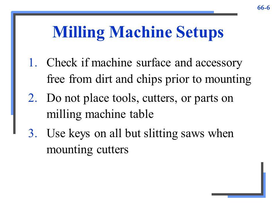 Milling Machine Setups