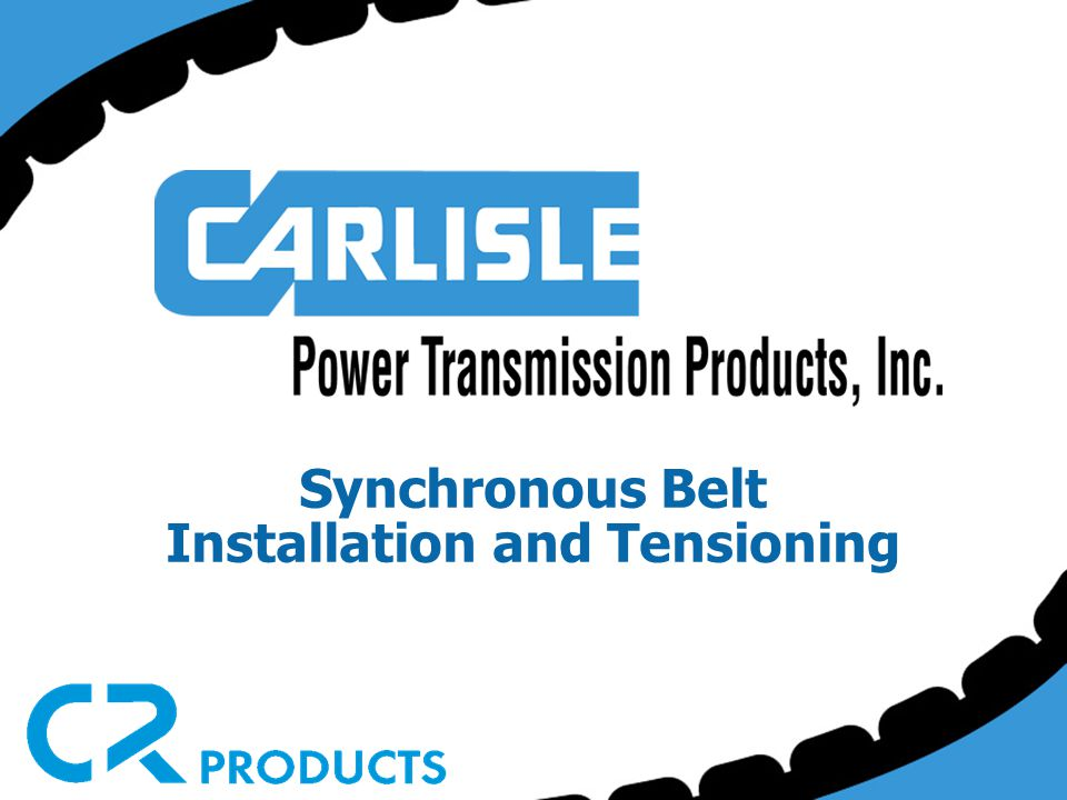 Synchronous Belt Installation and Tensioning