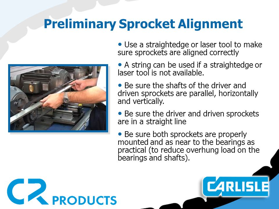 Preliminary Sprocket Alignment