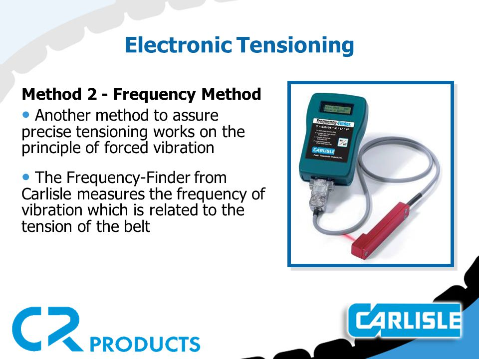 Electronic Tensioning