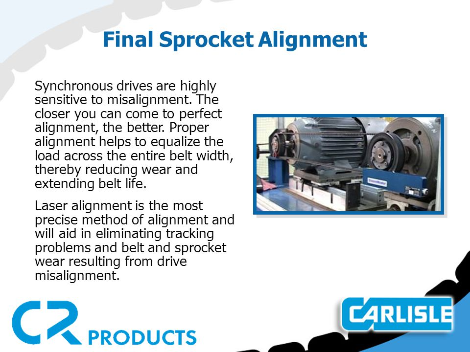 Final Sprocket Alignment