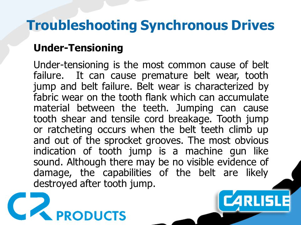 Troubleshooting Synchronous Drives