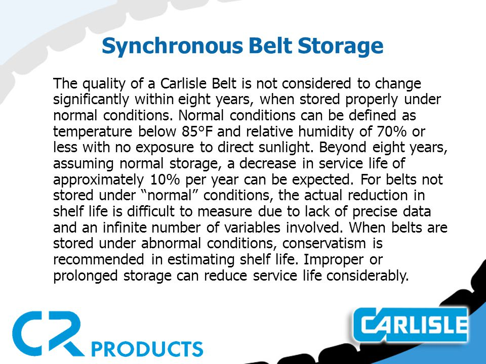 Synchronous Belt Storage