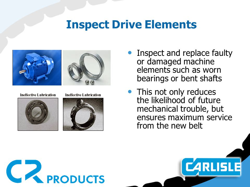 Inspect Drive Elements