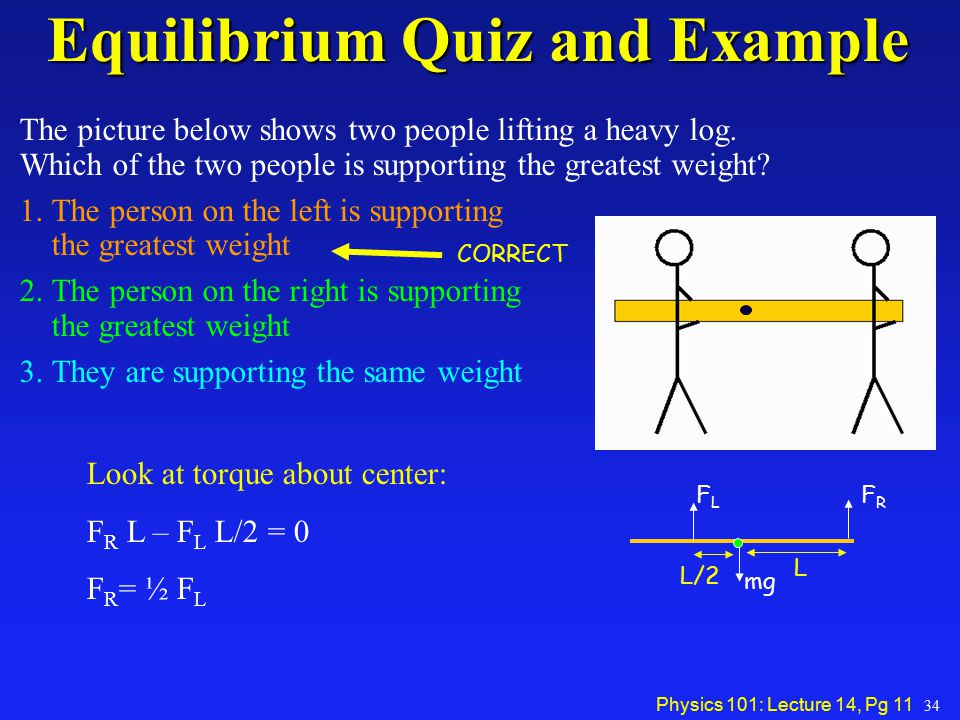 Equilibrium Quiz and Example