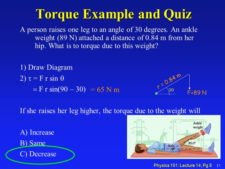 Torque Example and Quiz