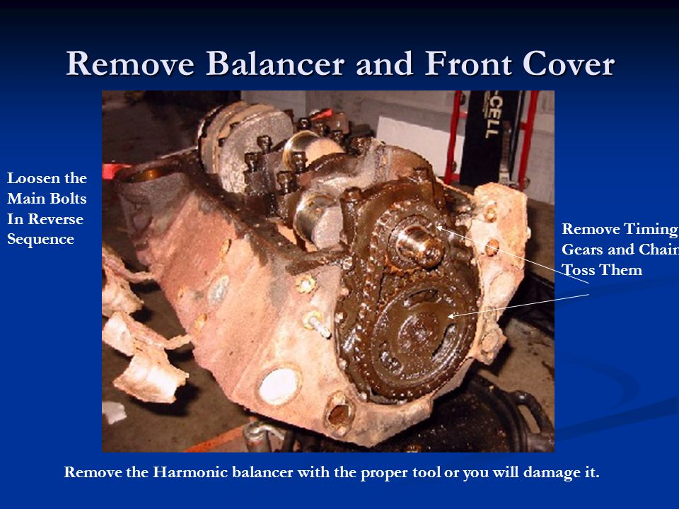 Remove Balancer and Front Cover