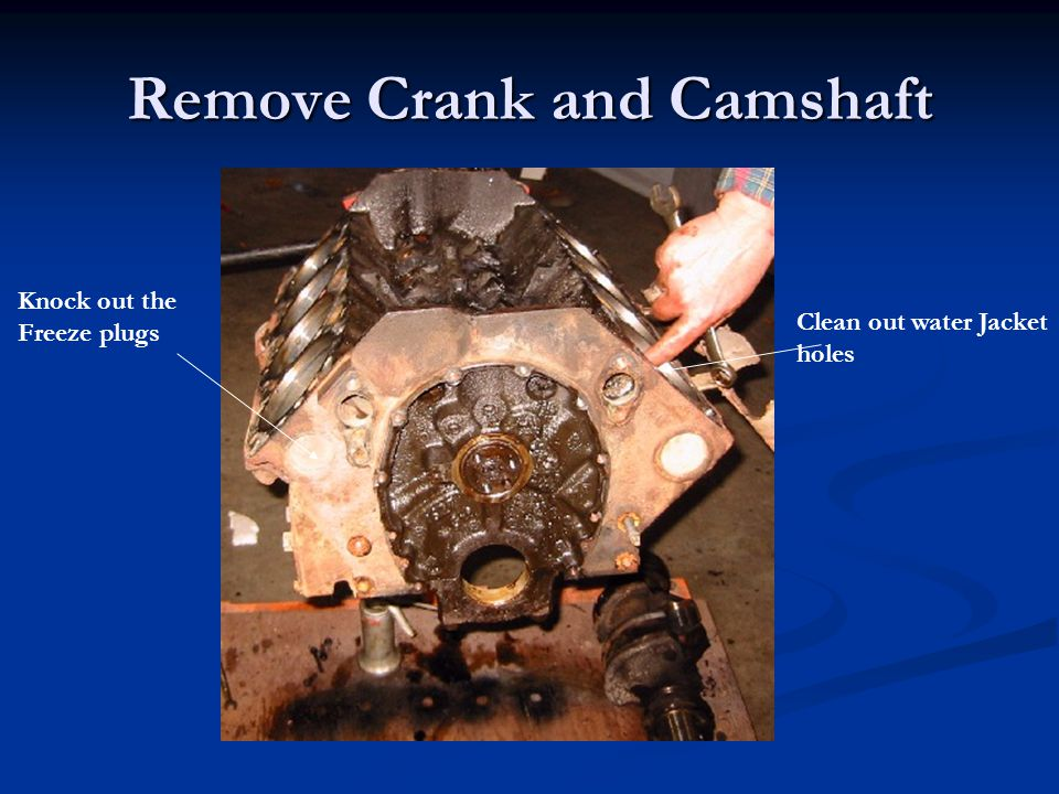 Remove Crank and Camshaft