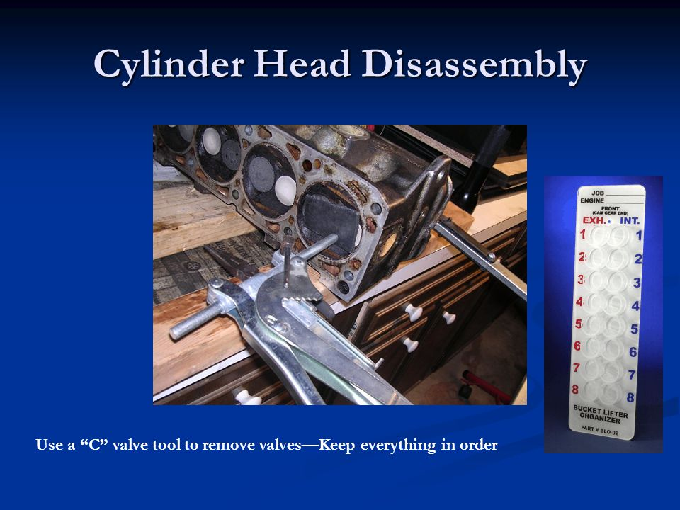 Cylinder Head Disassembly