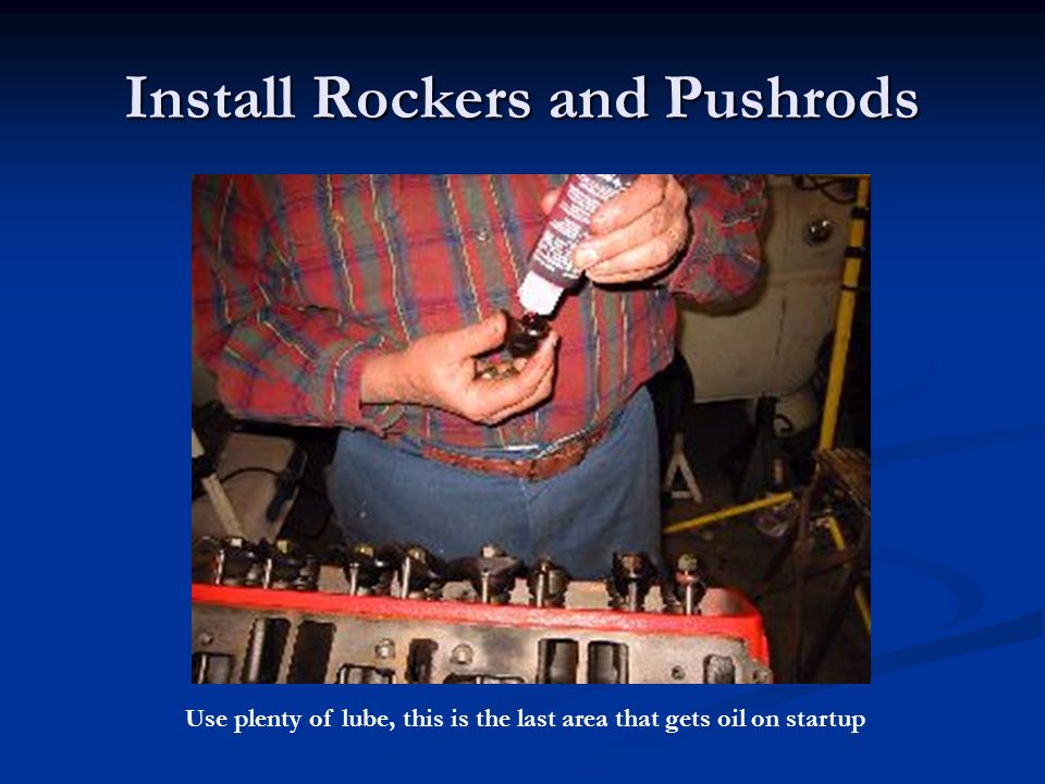 Install Rockers and Pushrods