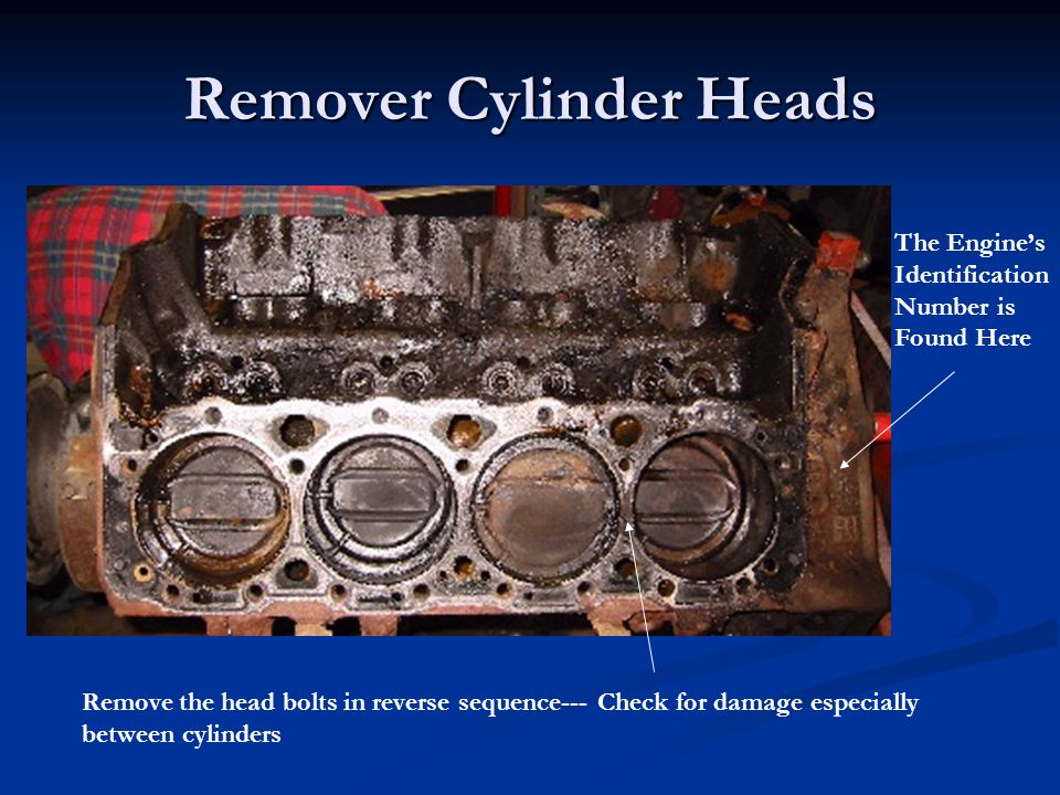 Remover Cylinder Heads
