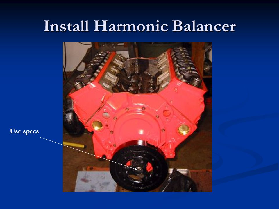 Install Harmonic Balancer