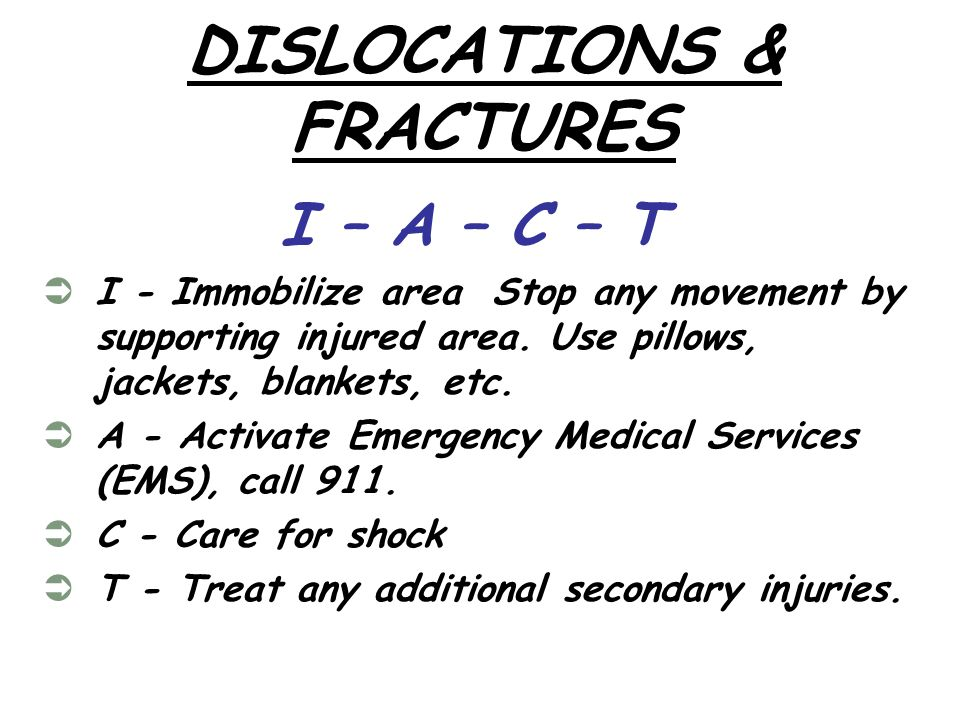 DISLOCATIONS & FRACTURES