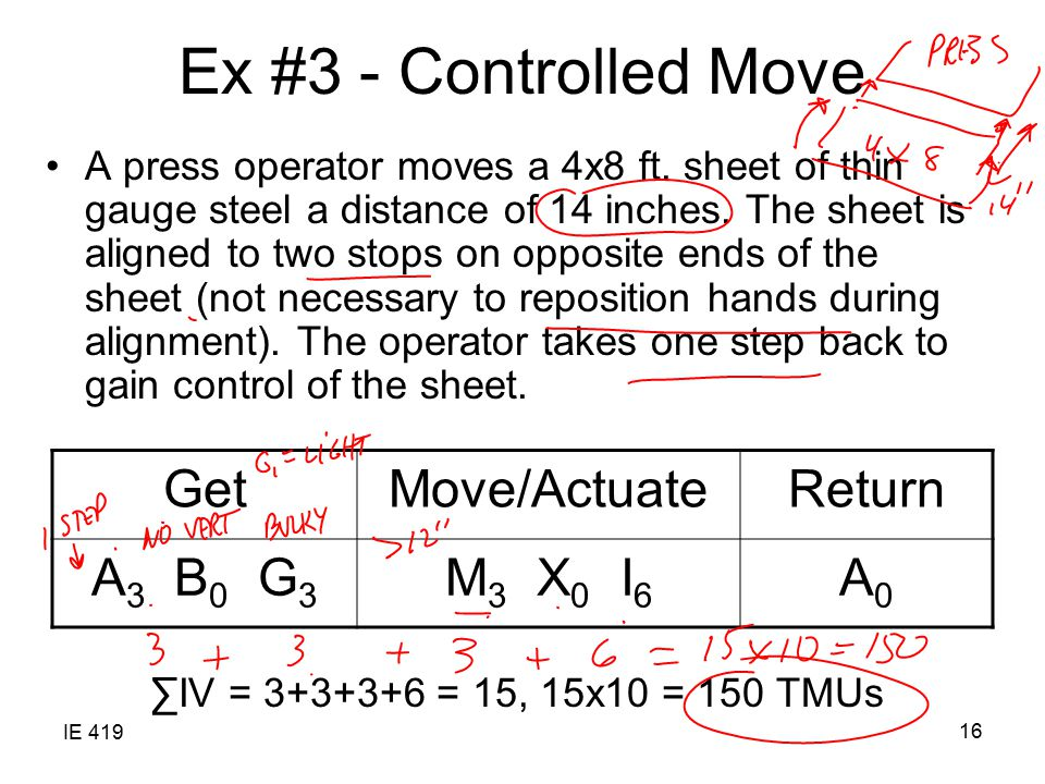 Ex #3 - Controlled Move Get Move/Actuate Return A3 B0 G3 M3 X0 I6 A0