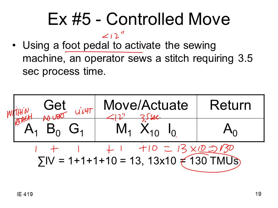 Ex #5 - Controlled Move Get Move/Actuate Return A1 B0 G1 M1 X10 I0 A0