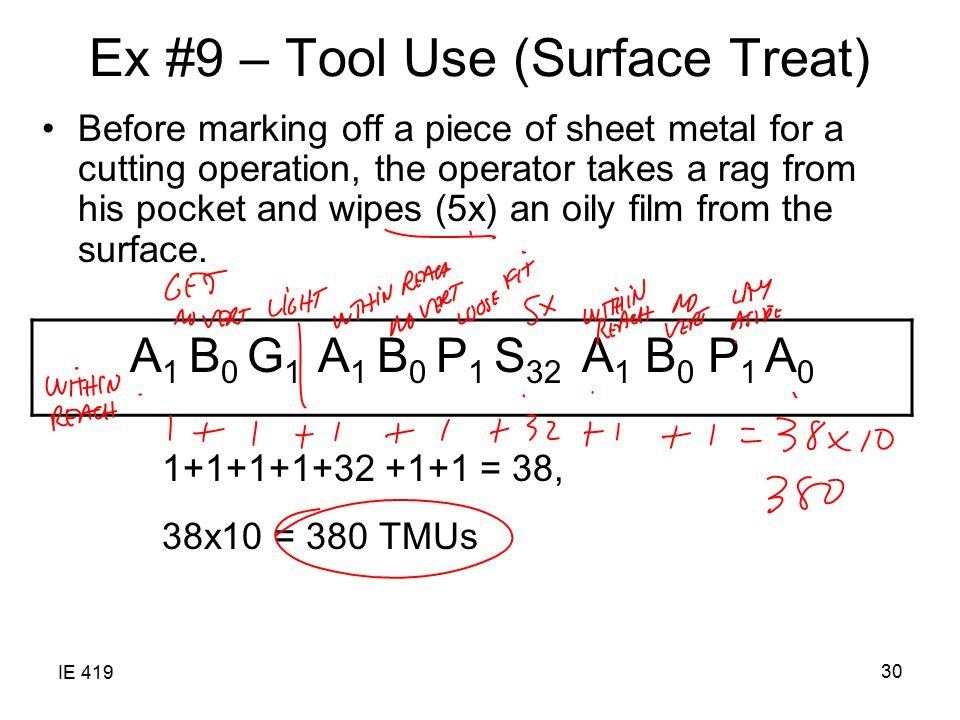 Ex #9 – Tool Use (Surface Treat)
