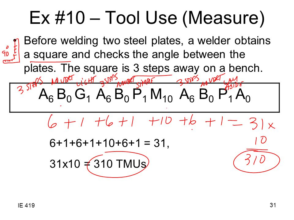 Ex #10 – Tool Use (Measure)