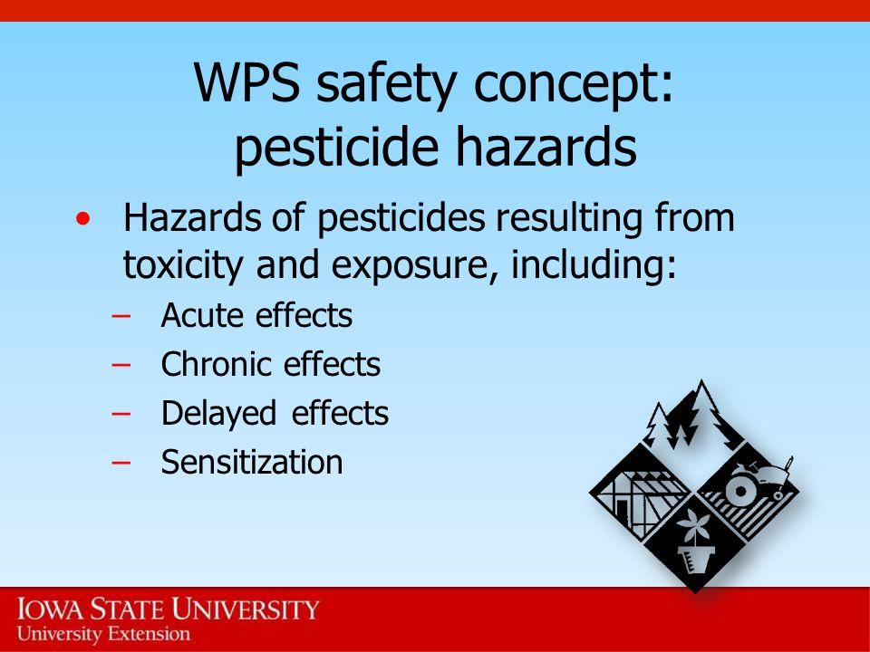 WPS safety concept: pesticide hazards