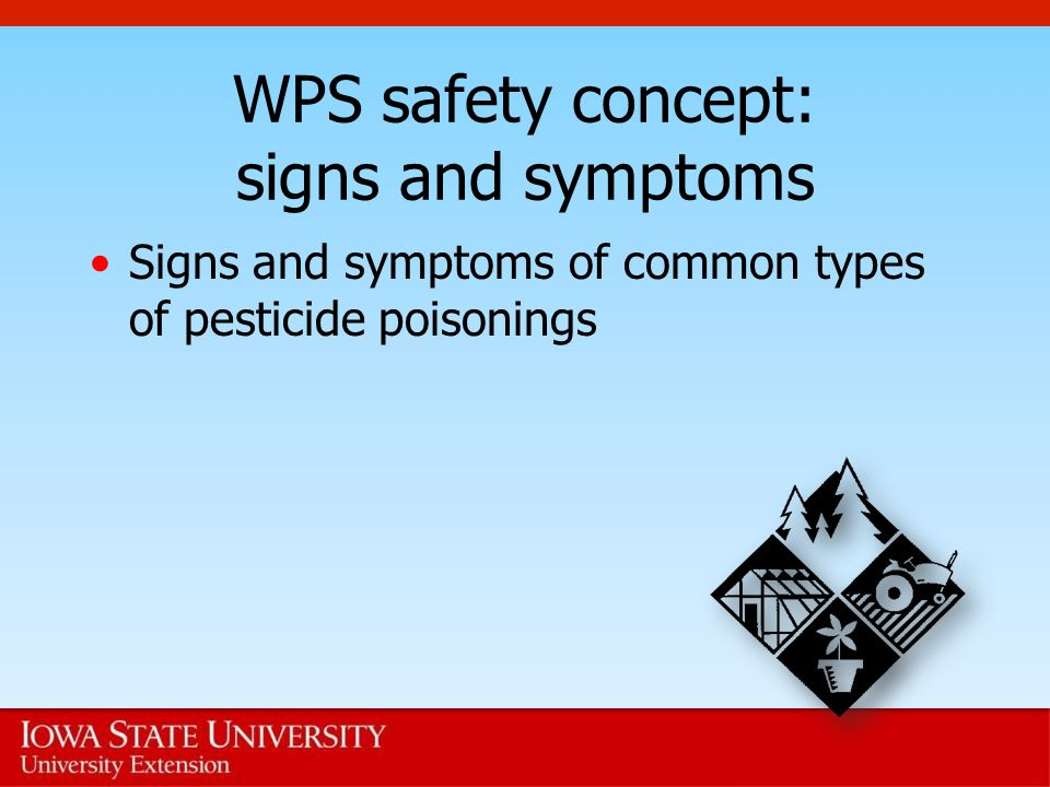 WPS safety concept: signs and symptoms