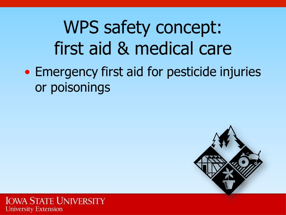 WPS safety concept: first aid & medical care