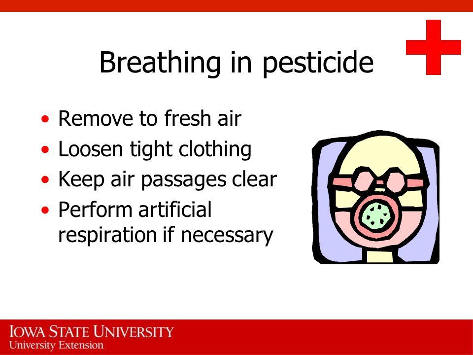 Breathing in pesticide