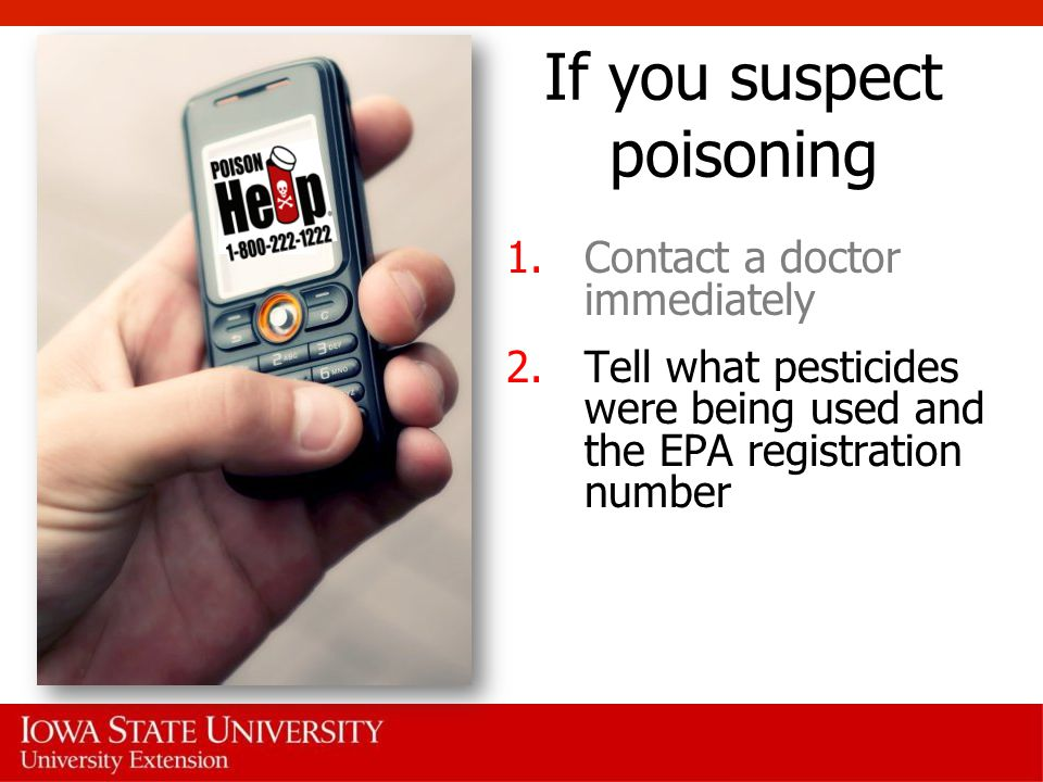 If you suspect poisoning