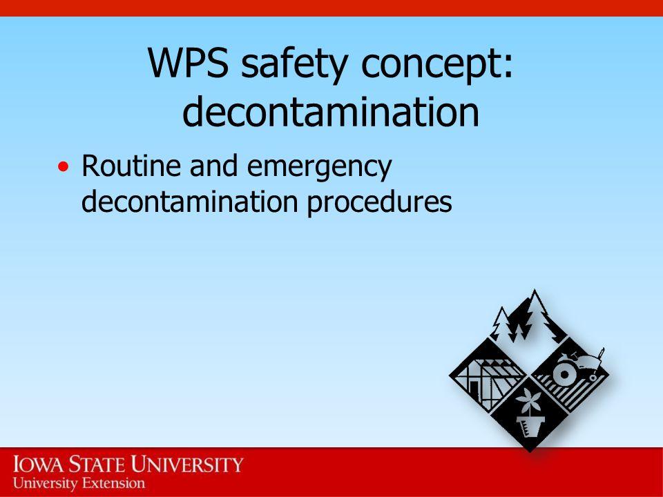 WPS safety concept: decontamination