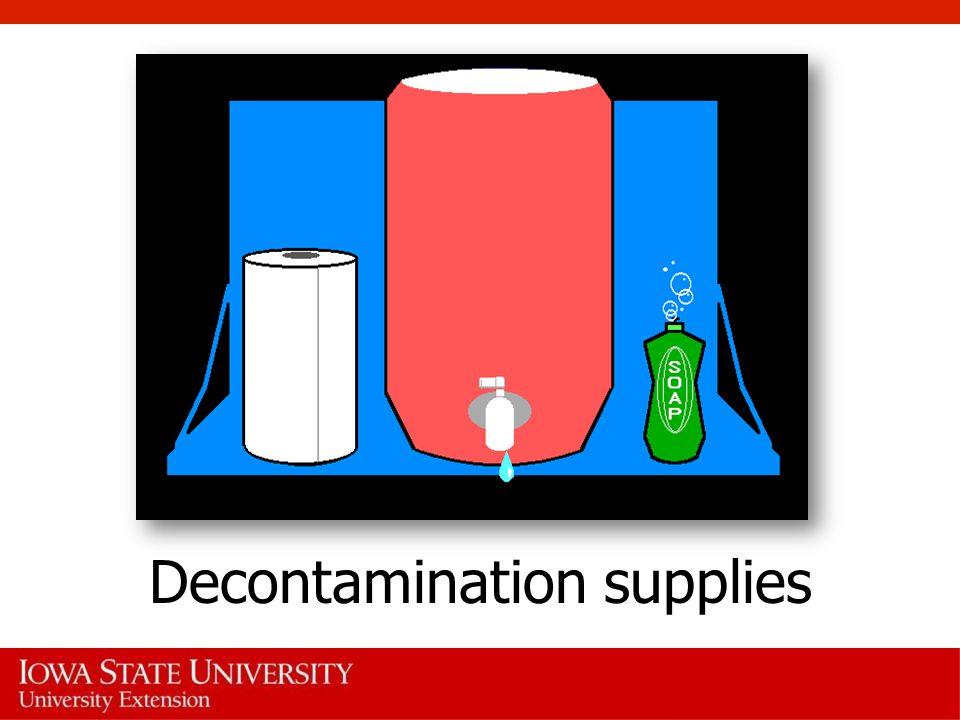 Decontamination supplies