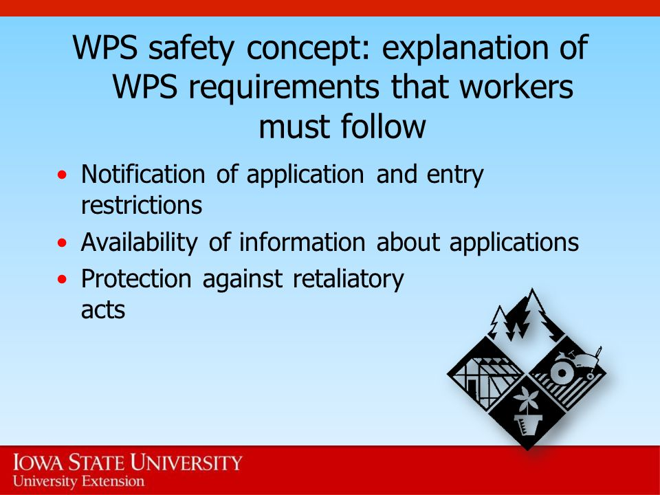 WPS safety concept: explanation of WPS requirements that workers must follow