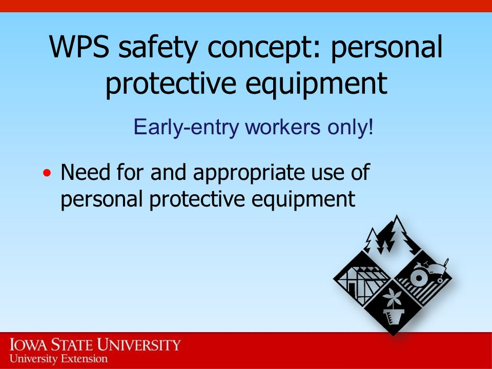 WPS safety concept: personal protective equipment