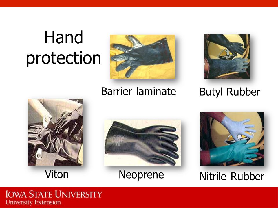 Hand protection Barrier laminate Butyl Rubber Viton Neoprene