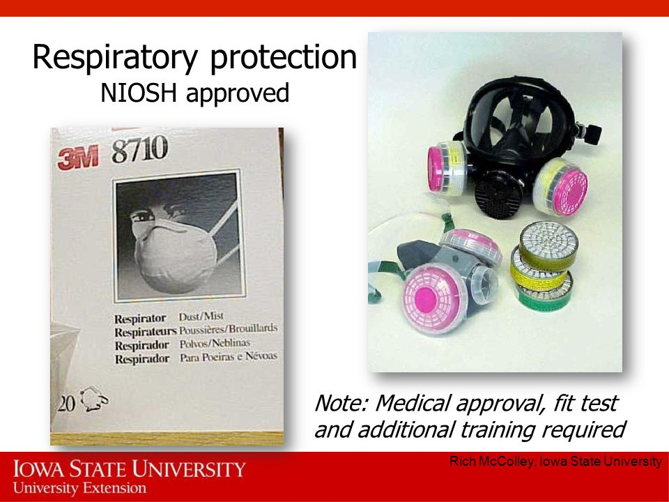 Respiratory protection NIOSH approved