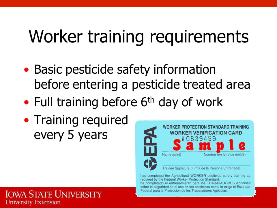 Worker training requirements