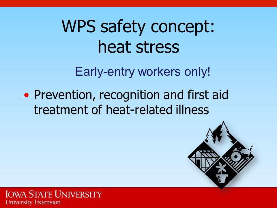 WPS safety concept: heat stress