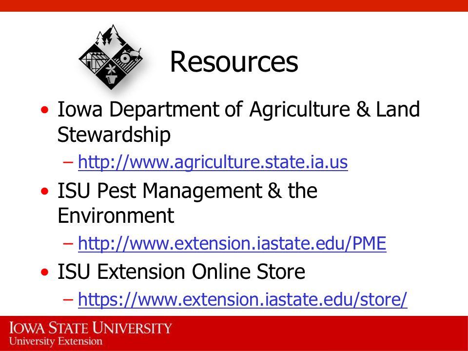 Resources Iowa Department of Agriculture & Land Stewardship