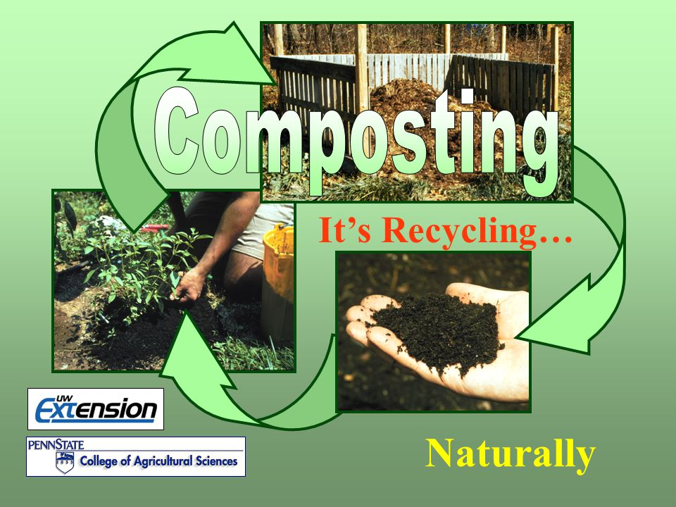 Composting It's Recycling… Composting is recycling naturally Naturally