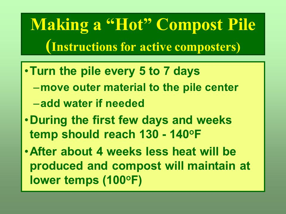 Making a Hot Compost Pile (Instructions for active composters)
