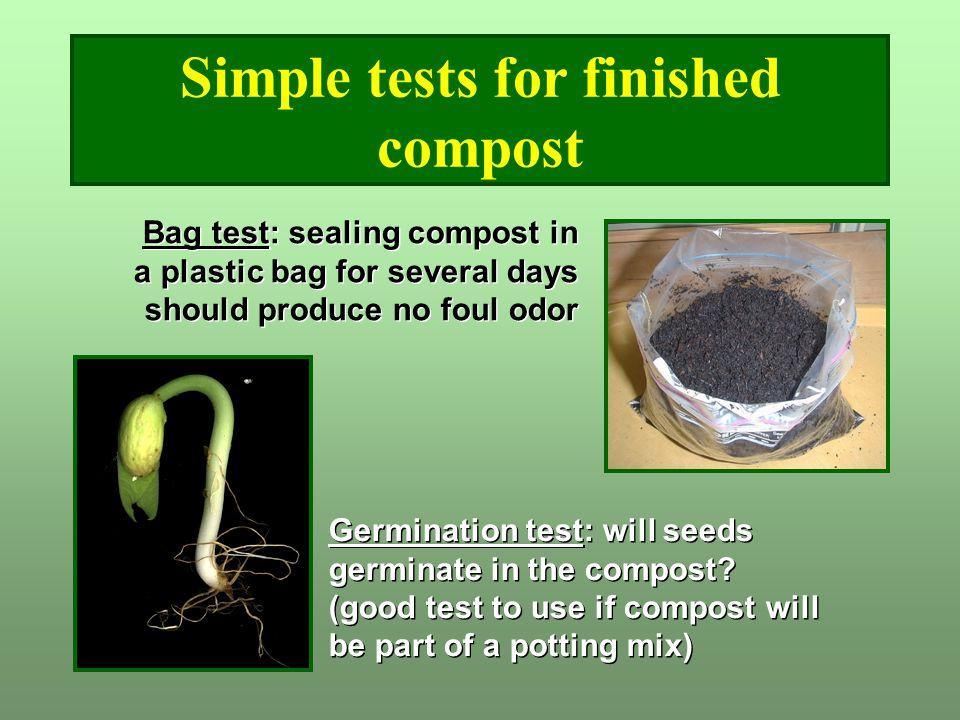 Simple tests for finished compost