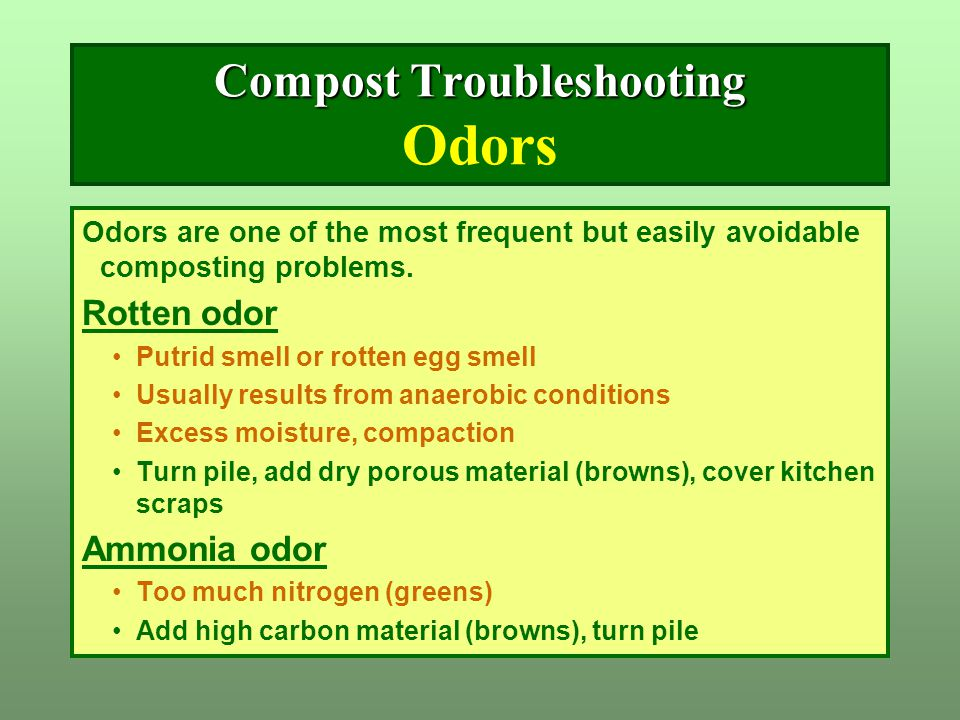 Compost Troubleshooting Odors