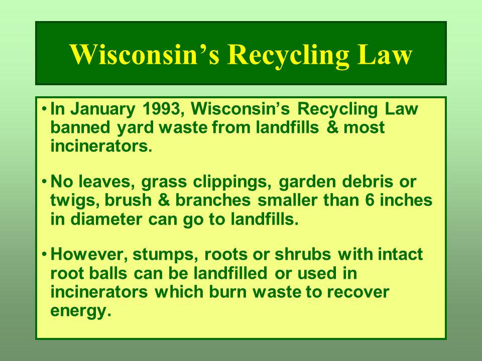 Wisconsin's Recycling Law