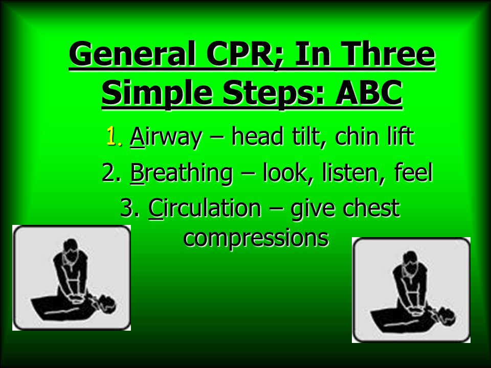 General CPR; In Three Simple Steps: ABC