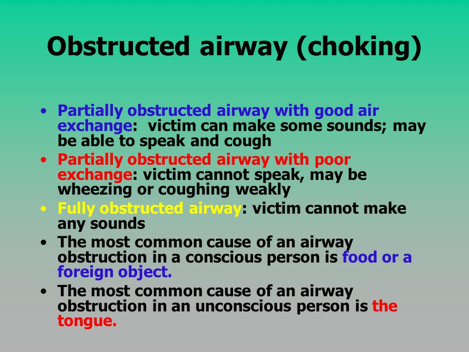 Obstructed airway (choking)